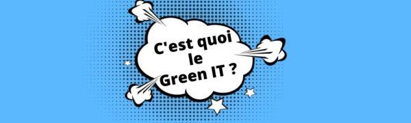 c'est quoi le green it
